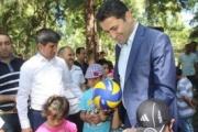 Başkan Eroğlu, Çocuklarla Birlikte...